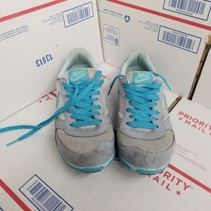 Retro real Nike sneakers shoes womens 8 blue